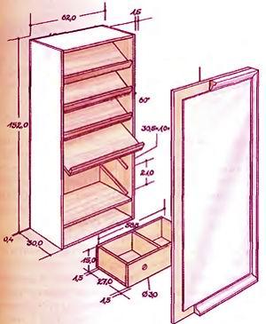 Шкаф для обуви своими руками чертежи фото 449