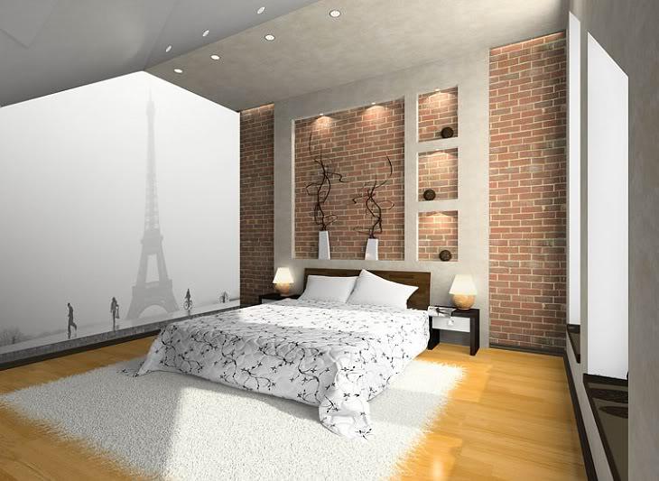 Кирпичная стена в комнате своими руками