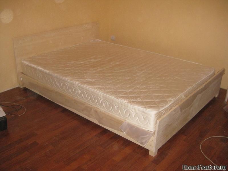 Самодельная кровать из того что есть