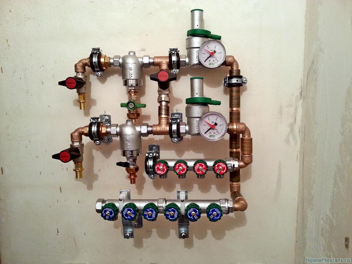 узла учета схема водопровод
