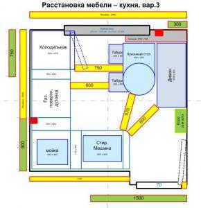 расстановка мебели - кухня, вар.3 - Размер 73,24К, Загружен: 8