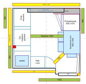 расстановка мебели - кухня - Размер 62,97К, Загружен: 70