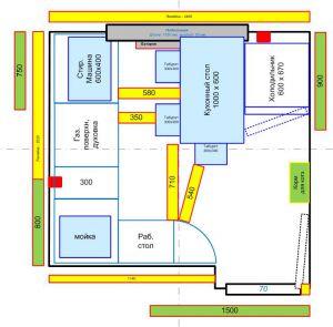 расстановка мебели - кухня, вар.2 - Размер 67,52К, Загружен: 10