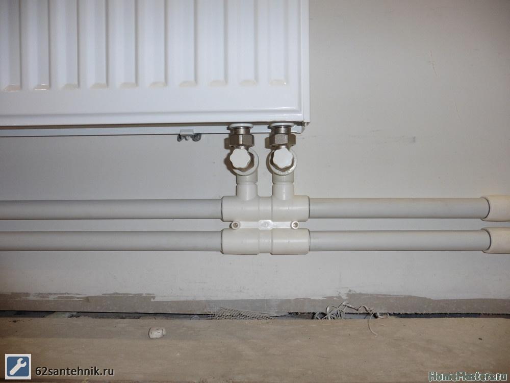Монтаж радиаторов отопления с нижним подключением своими руками 89
