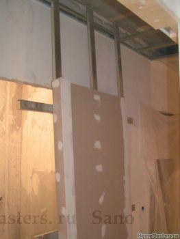 Перегородка со сдвижными дверями  ч2