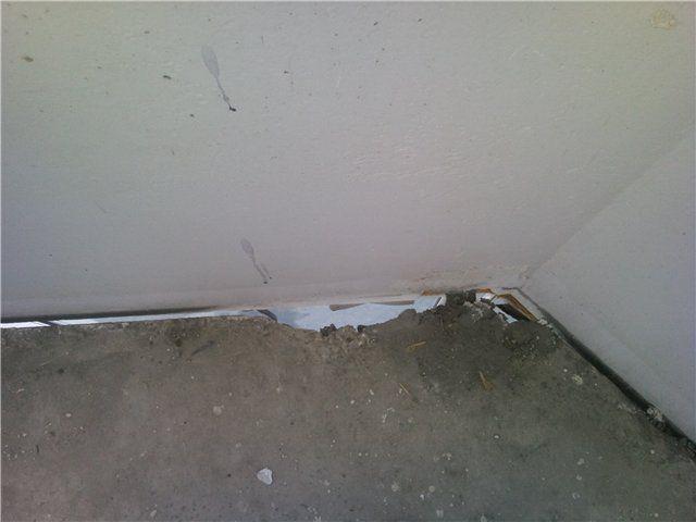 Чем заделать дыру в бетонном полу - главная идея.