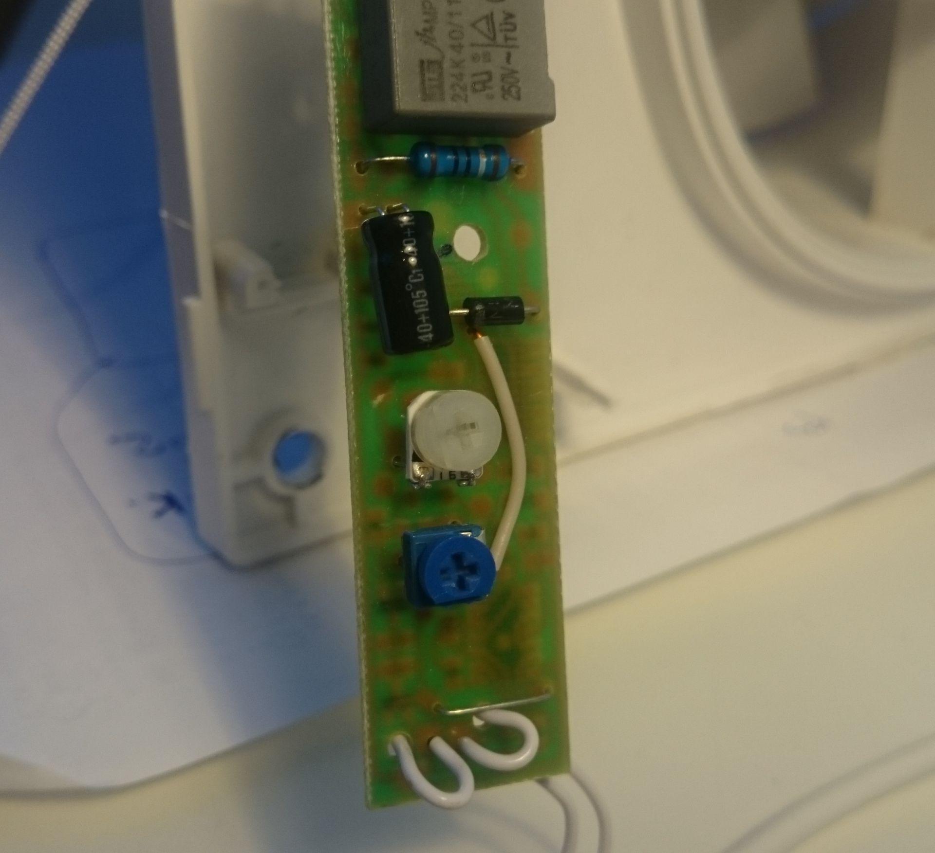 схема питания для вентилятора с таймером