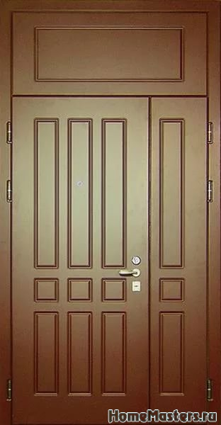 входные двери в квартиру с верхней вставкой