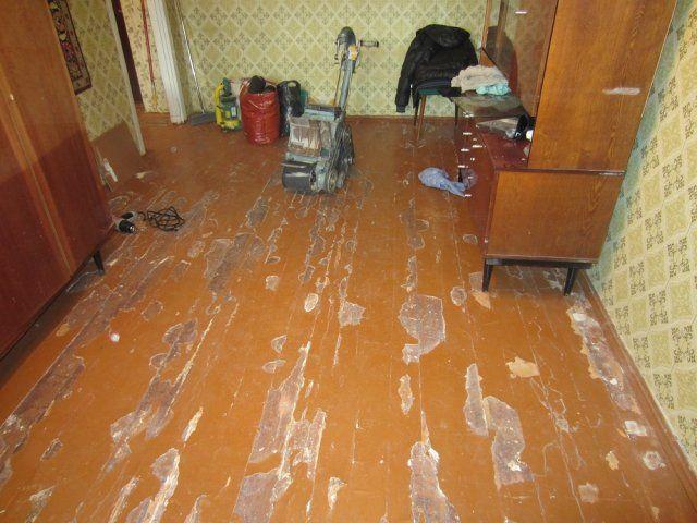 Как отциклевать деревянный пол