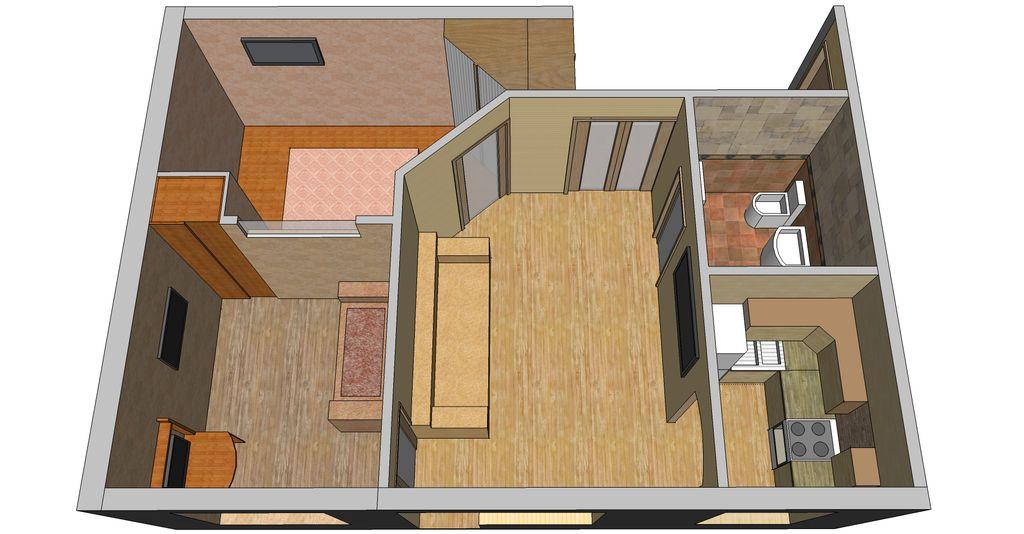 Дизайны перепланировки хрущевки 2 комнаты смежные варианты 21