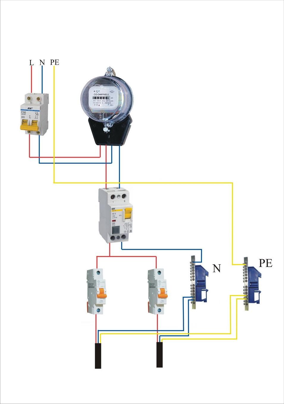 Схема подключения кабеля к плите