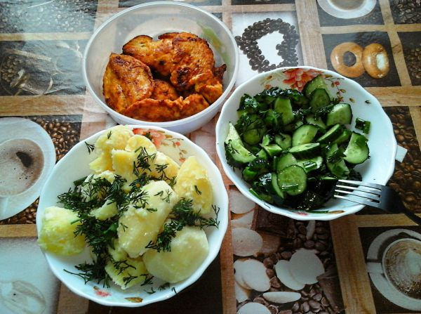 Картофель, салат и курица - Размер 911,62К, Загружен: 58