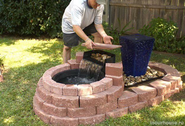 Как самому сделать фонтан на даче
