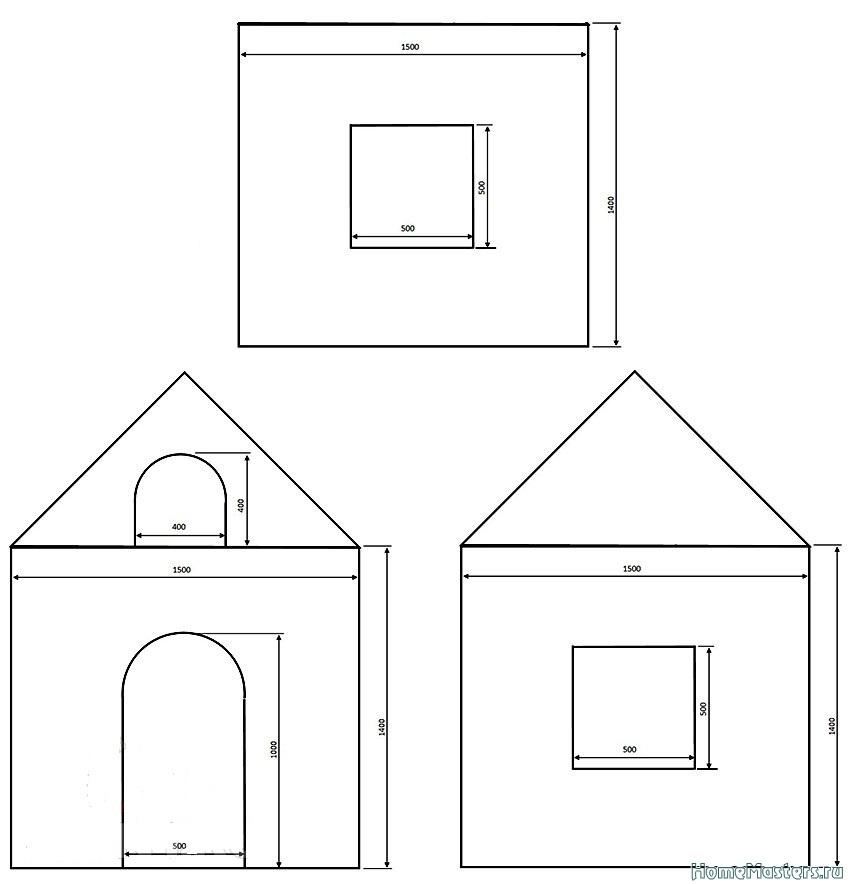 Детский домик на даче своими руками чертежи схемы