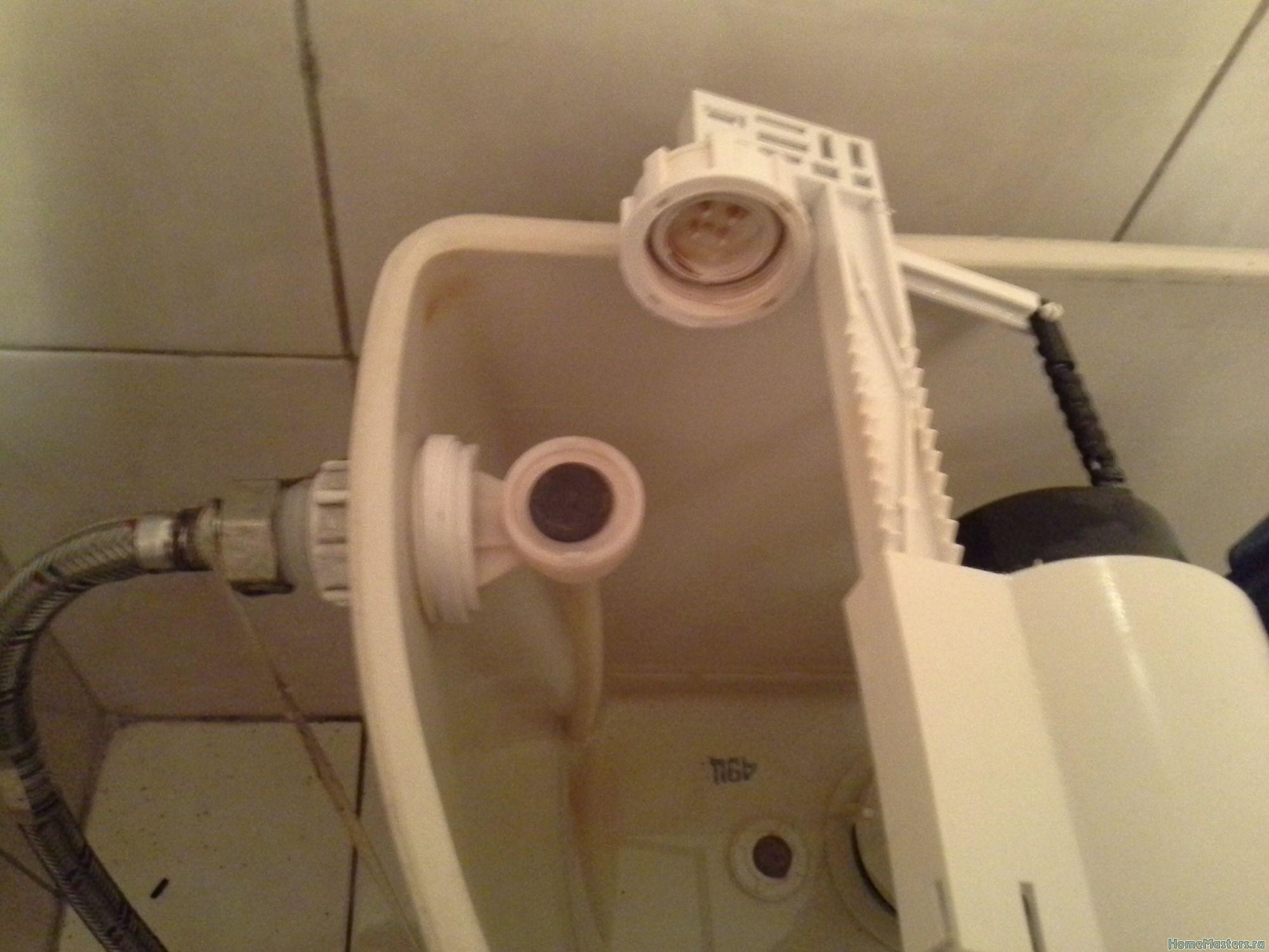 Ремонт сливного клапана унитаза своими руками