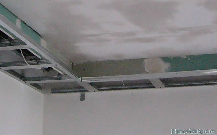 Бортик в потолке из Гипсокартона Потолки из гипсокартона Школа ремонта. Ремонт своими руками. Советы профессионалов
