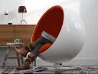 Eero Aarnio Ball Chair - Globe Chair - Размер 59,36К, Загружен: 752