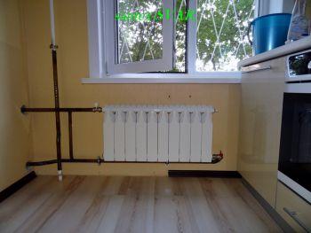 Радиатор кухни на стояк спальни.