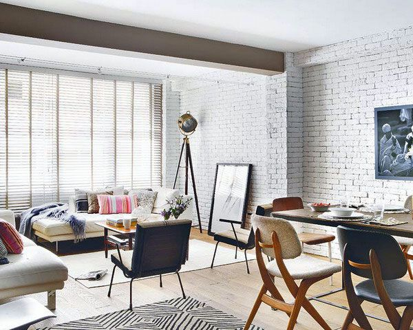 White-Brick-Wall-Living-Spaces-with-Vint
