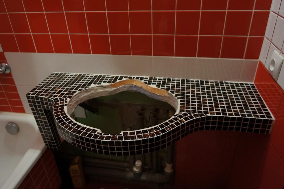 Столешница в ванну из плитки своими руками