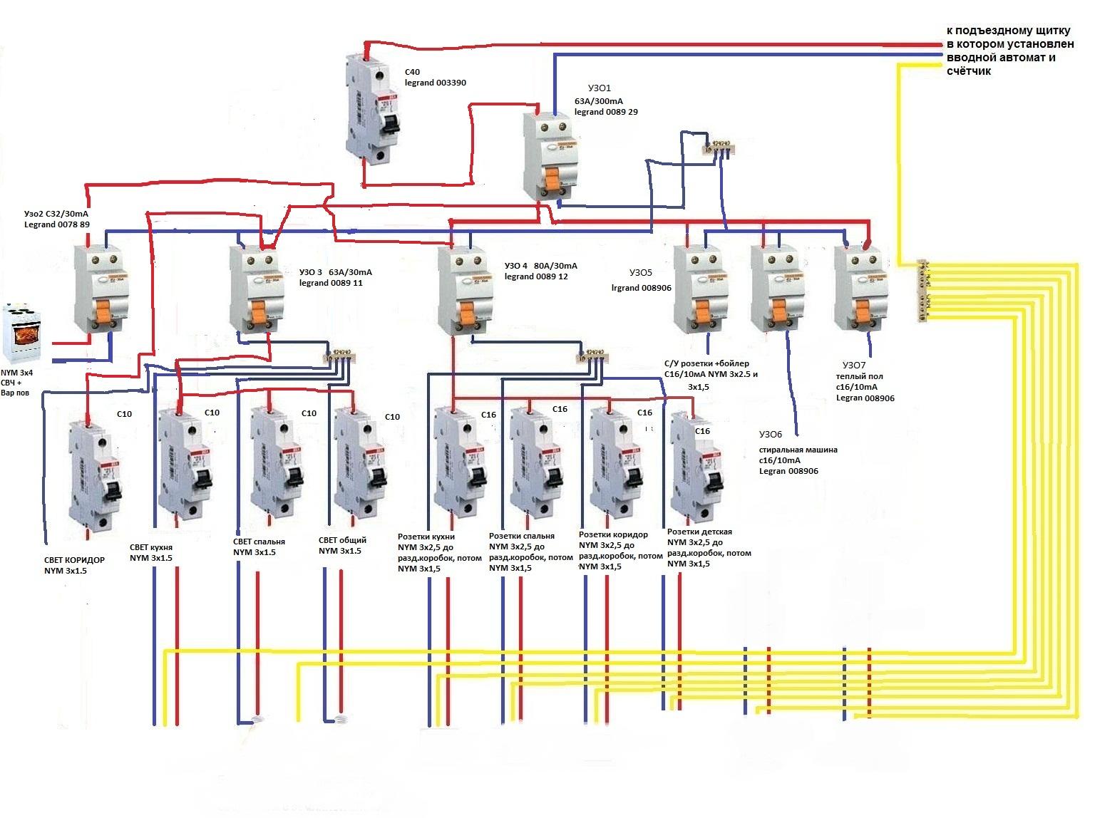 Электрика в доме своими руками схемы 3 фазы