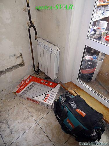 монтаж радиатора отопления в узкий проем 2 - Размер 200,2К, Загружен: 0