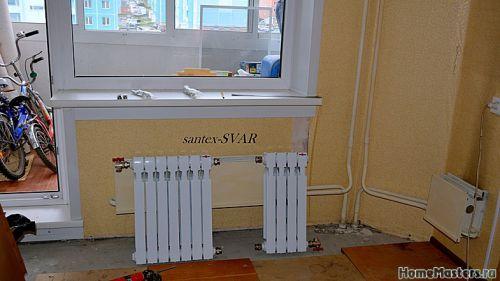 монтаж радиатора отопления в угловой квартире - Размер 268,1К, Загружен: 0