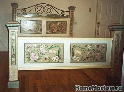 Декупаж старой кровати для девочки своими руками 58