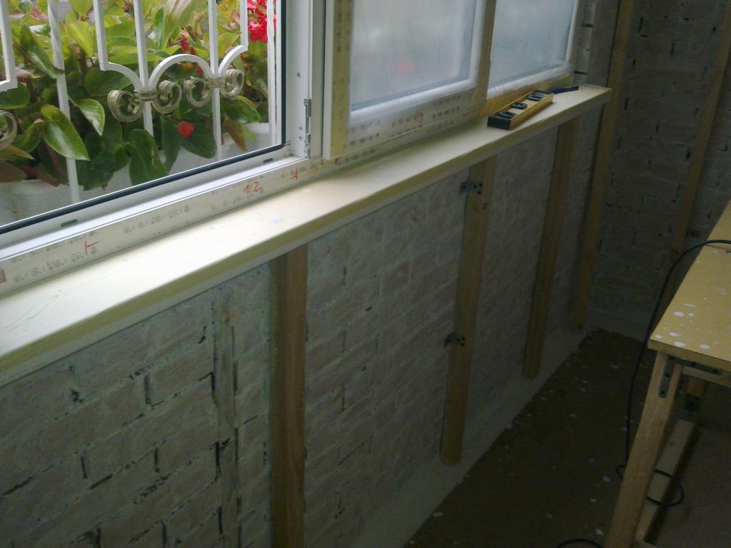 Большой ремонт, маленького балкона. наши работы школа ремонт.