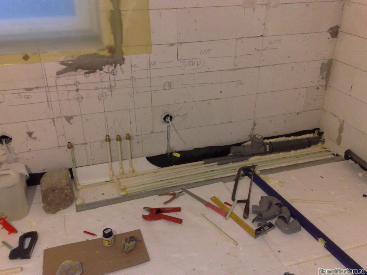 высота вывода водорозеток под кухню
