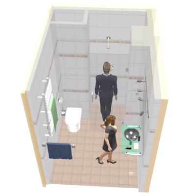 Душевая без перегородки с людьми 3D - Размер 350,15К, Загружен: 0