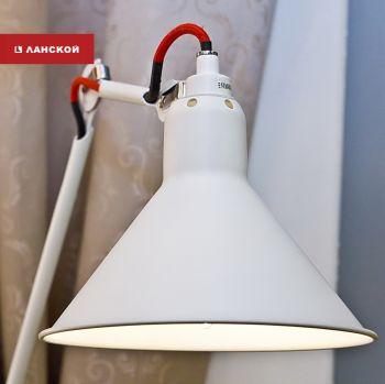 Освещение рабочего пространства: лампы и споты в ТК «Ланской»