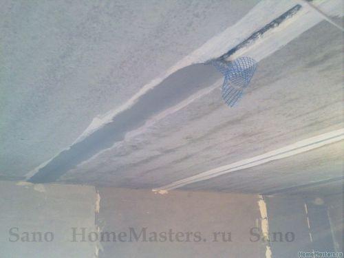 Как заделать русты на потолке своими руками