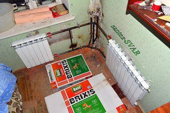 Монтаж отопления угловой квартиры.