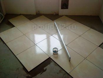 Диагональная укладка напольной плитки