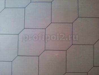 Укладка плитки в виде неправильного шестигранника