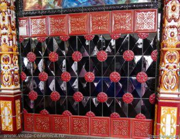 Изразцы майоликовые для декоративной отделки
