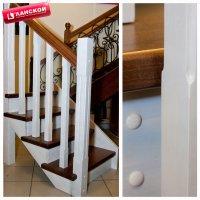 Классическая лестница из окрашенного массива