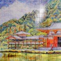 """Керамическое панно """"Пагода"""""""