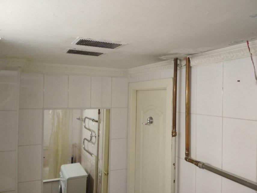 Замена труб в ванной комнате. Есть фотографии.
