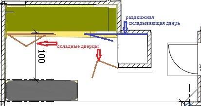 Как спрятать кухню в студии