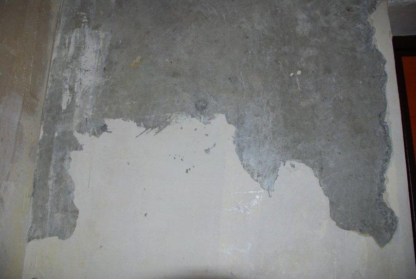 Как подготовить эту стену под обои?