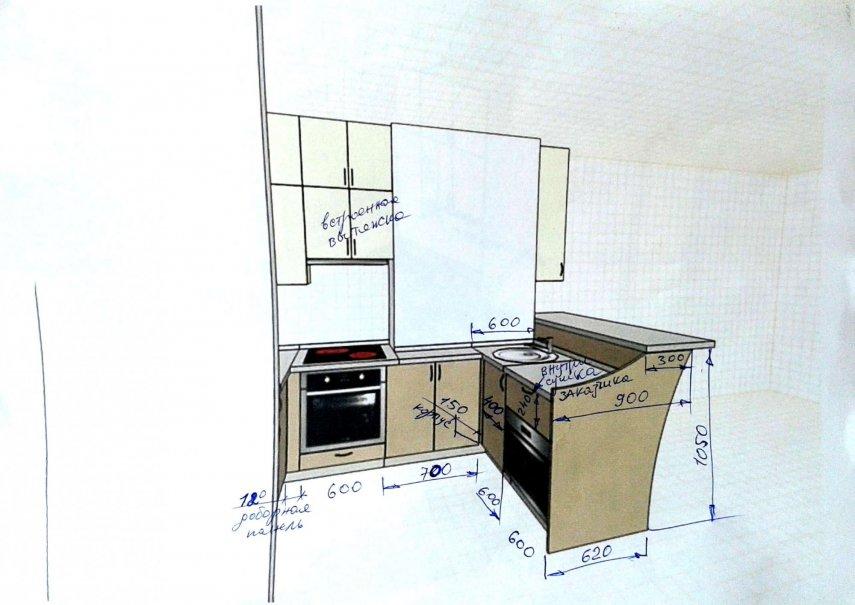 Кухня – платиновая красотка.
