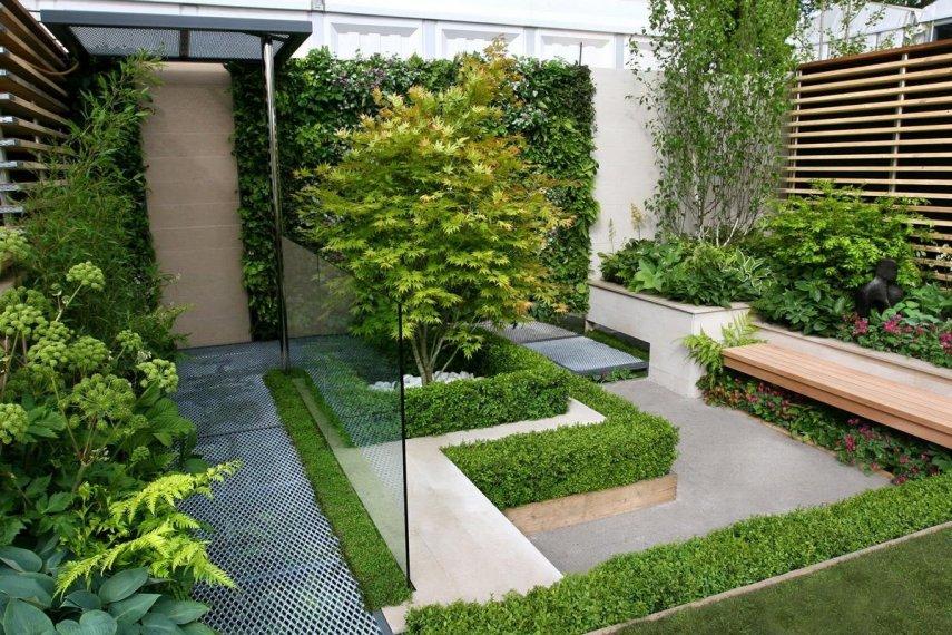 Дизайн сада в стиле минимализм, Коломна