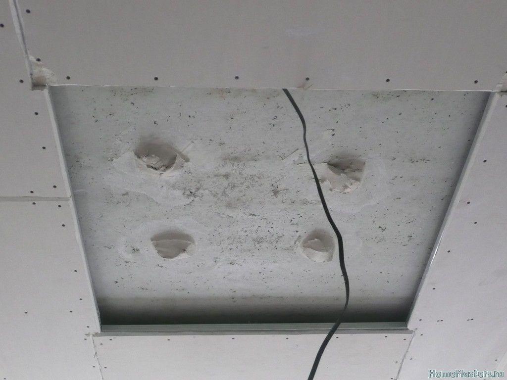 Кессонный потолок из гипсокартона. Один из способов сборки.